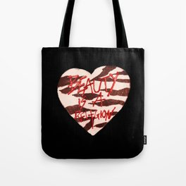 BeautyIsAReligion `ZEBRA HEART` Tote Bag