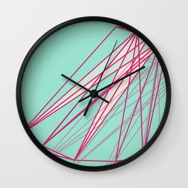 Blue crac Wall Clock