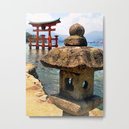 Lonely Lantern (Japan) Metal Print