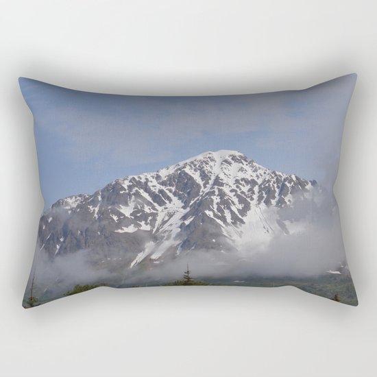 Seward Mountain Fog Rectangular Pillow