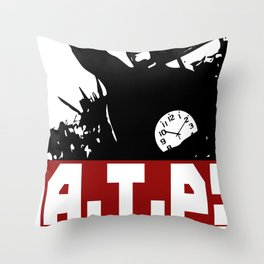 A.T.P.! Anti Time-Theft Party - The Time is Now! Throw Pillow