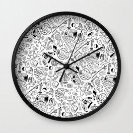 Seinfeld Pattern (White Background) Wall Clock