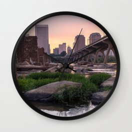 Summer Sunrise By The James in Richmond VA Wall Clock