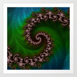 Benthic Saltlife Fractal Tribute for Reef Divers Art Print
