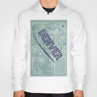 denver Hoodies featuring Denver by Dweezle