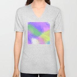 abstract pixels 02 Unisex V-Neck
