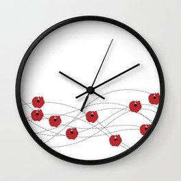 Beautiful Poppies Wall Clock