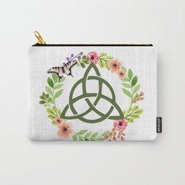 Floral Triquetra Carry-All Pouch
