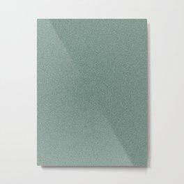 Dense Melange - White and Deep Green Metal Print