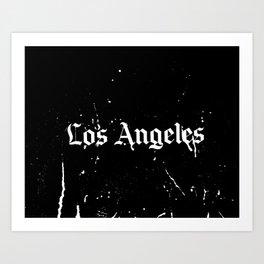 Los Angeles Gothic Art Print