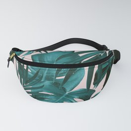 Tropical Jungle Leaves Pattern #3 #tropical #decor #art #society6 Fanny Pack