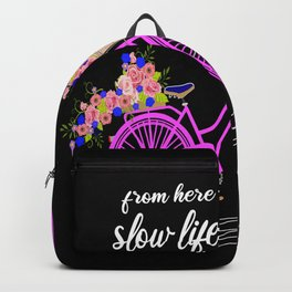 Bicycle Snail Riding Bike Vintage Gift Backpack