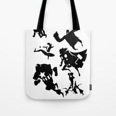 The Avengers Minimal Black and White Tote Bag