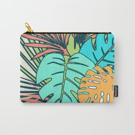 Tropical leaves cream Carry-All Pouch