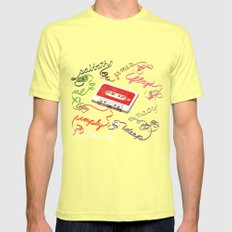 Colorful Mix Mens Fitted Tee Lemon SMALL