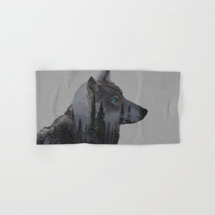 Winter Wolf Hand & Bath Towel