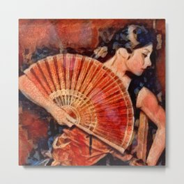 Flamenco Dancer Metal Print