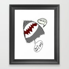 am i scary yet? Framed Art Print