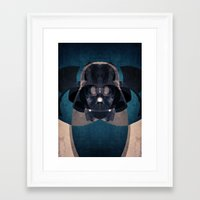 darth vader Framed Art Prints featuring Darth Vader by lazylaves