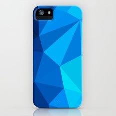 Geometric blue whale iPhone (5, 5s) Slim Case