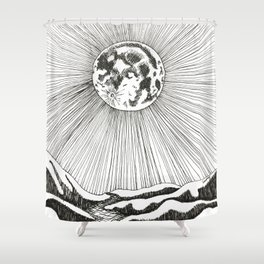 Moon Significator Shower Curtain