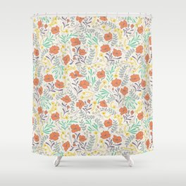 Colorful Peonies Shower Curtain
