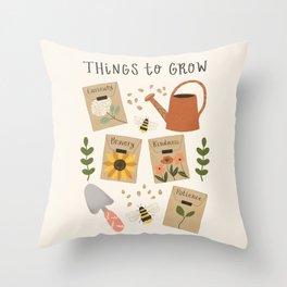 Things to Grow - Garden Seeds Throw Pillow