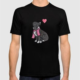 Watercolour Border Collie T-shirt