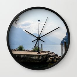 Lake Garda | Riva del Garda, Italy (Europe) | Colorful Travel Photography Wall Clock