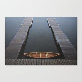 The Golden Canoe Canvas Print