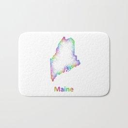 Rainbow Maine map Bath Mat