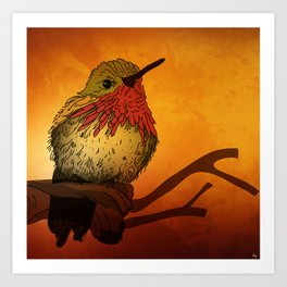 The Sunset Bird Art Print