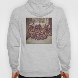Winter Wood Pile Photography Hoody