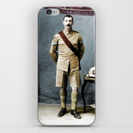 Queen's Royal Regiment Soldier Studio Photograph during the First world War iPhone Skin