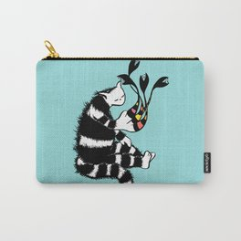 Weird Cat Character With Strange Paw Carry-All Pouch