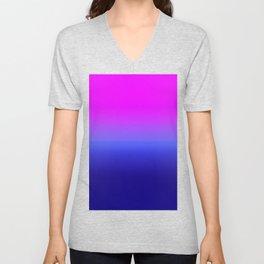 Gradient Ombre Purple Blue Unisex V-Neck