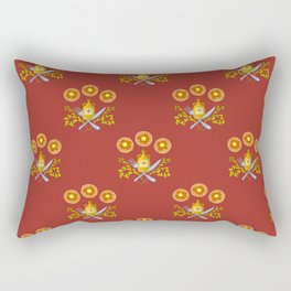 Waffle and Syrup (Strawberry Jam Crimson) Rectangular Pillow