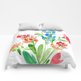 Fleurs de contraste Comforters