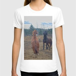 The Challenge - Ranch Horses Fighting T-shirt