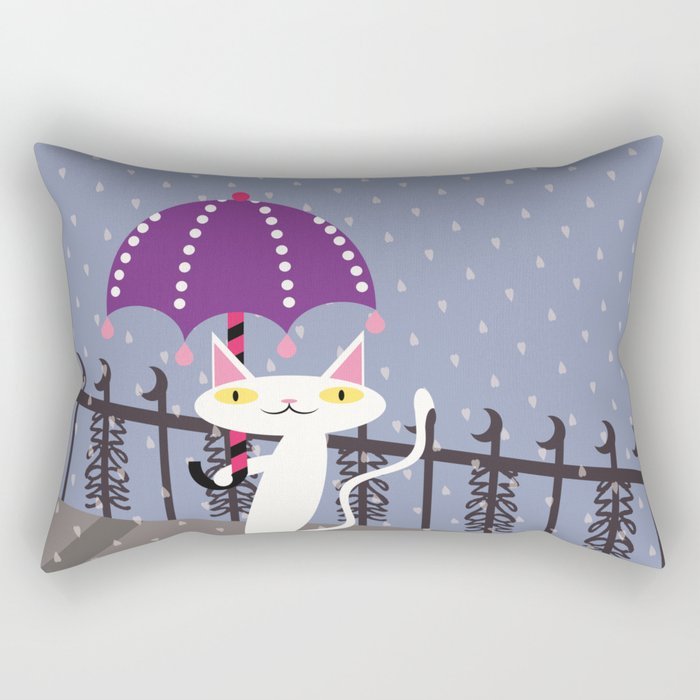 Shironeko Rectangular Pillow