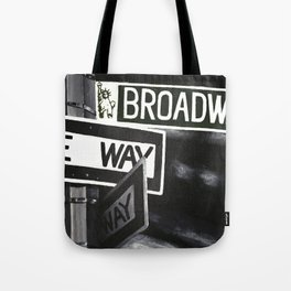 One Way to Broadway Tote Bag
