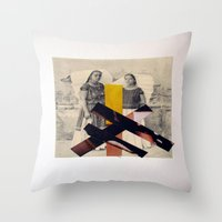 sisters Throw Pillows featuring Sisters by Mimi Rico