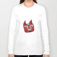 diablo Long Sleeve T-shirts featuring Gato Diablo by Scribblebro