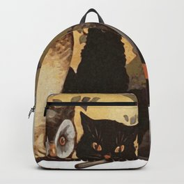 Owl and Cat Halloween Backpack