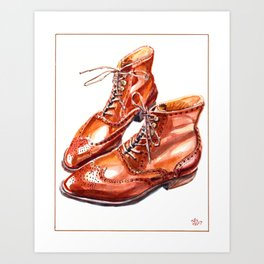 Full Brogue Bespoke Boots Art Print