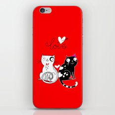 love cats iPhone & iPod Skin