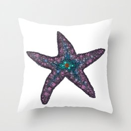 Sandy the Seastar - Abstract Starfish Throw Pillow