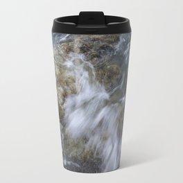 Crashing wave in a rocky beach Travel Mug