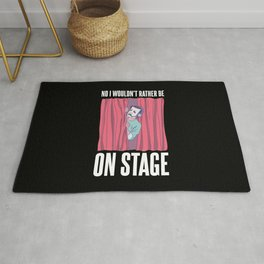 Funny Theater & Musical Stage Crew Gift Rug