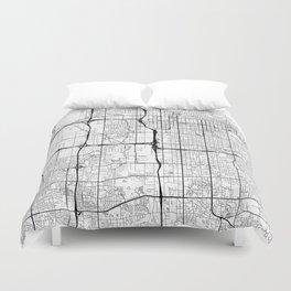 Salt Lake City Map White Duvet Cover
